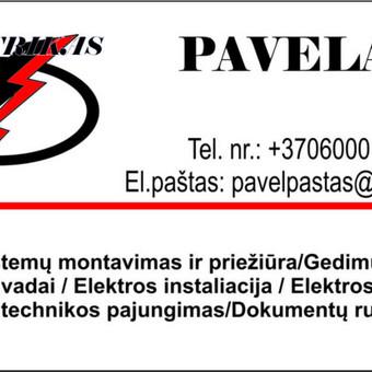 Elektrikas 860001840 Šiauliai / Pavelas / Darbų pavyzdys ID 586677