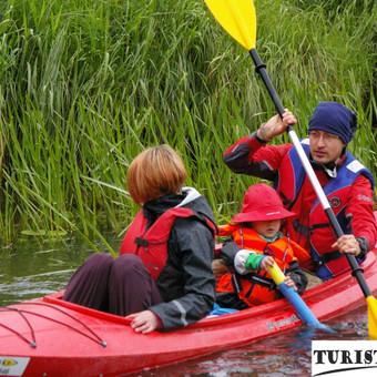 Baidarių nuoma, baidarės su vaikais Jūros upe, Turistauk.lt