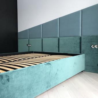 Minkštos 3D sienų plokštės, lovos, galvūgaliai / Gražvydas / Darbų pavyzdys ID 590493