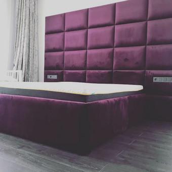 Minkštos 3D sienų plokštės, lovos, galvūgaliai / Gražvydas / Darbų pavyzdys ID 590495