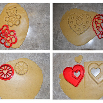 Valentino dienos sausainių, meduolių formelės.