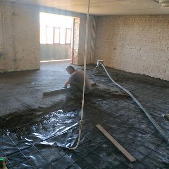 Grindų betonavimas / Šildomų grindų betonavimas / Dangiras / Darbų pavyzdys ID 593677