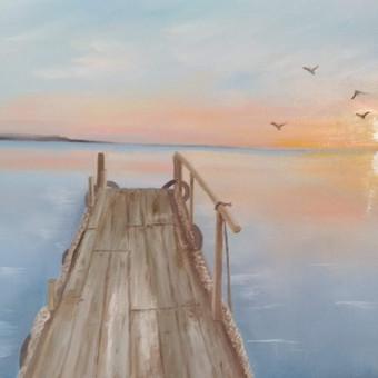 """""""Saulėlydis"""", aliejus-drobė, 60×46 cm"""