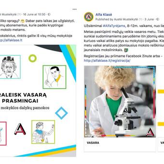 Reklama internete - Facebook, Instagram / Austė Musteikytė / Darbų pavyzdys ID 596305