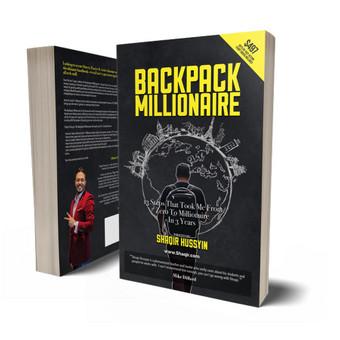 """Knygos """"Backpack millionaire"""" maketavimas. Visos maketavimos paslaugos spaudos leidiniams, žurnalams, bukletams, katalogams, reklaminiams leidiniams / Maketuotojas Klaipėdoje - www.baltaideja.lt"""