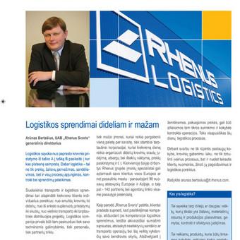 Naujienų leidiniai: Rhenus Logistics naujienlaiškis, siunčiamas esamiems ir potencialiems klientams.