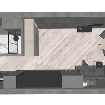 MAXI interjero projektas - 3D modelis