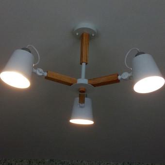 Gražaus šviestuvo  surinkimas ir pajungimas
