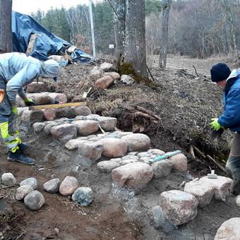 Akmens mūro darbai, Šlaitų ir pakrančių tvirtinimas,Gabion / Saulius / Darbų pavyzdys ID 610659