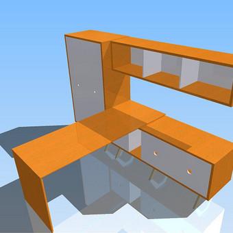 kabineto baldų rinkinys