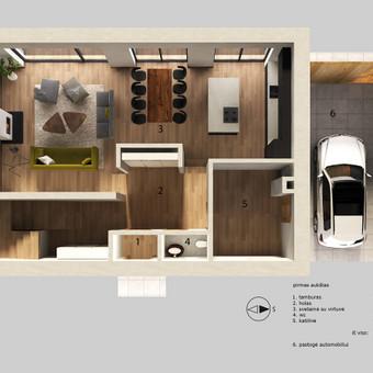 Architektūrinių vizualizacijų kūrimas / Akvilė Miniotaitė / Darbų pavyzdys ID 615129