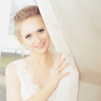 Išskirtinė profesionali vestuvinė fotosesija. Kiekviena nuotaka, yra pati graziausia, nebijokite sypsotis! Profesionalios fotografijos paslaugos jums