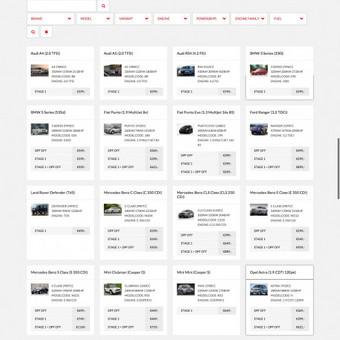 Joomla platforma su Javascript produktų filtravimu  http://kcperformance.eu/en/tuningstages
