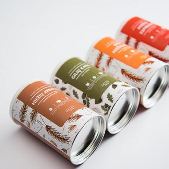 Etiketės dizainas ekologiškų natūralių gėrimų pakuotei