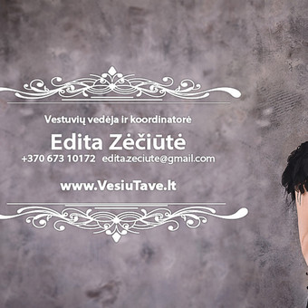 Renginių vedėja ir koordinatorė Edita / Edita Zėčiūtė / Darbų pavyzdys ID 618941