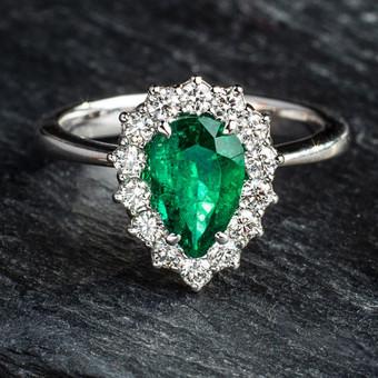 Sužadėtuvių žiedai su Deimantais / Dote Jewellery / Darbų pavyzdys ID 621231