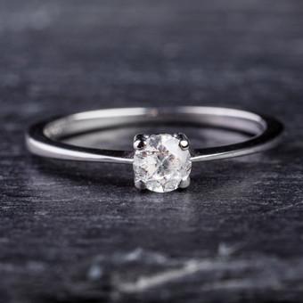 Sužadėtuvių žiedai su Deimantais / Dote Jewellery / Darbų pavyzdys ID 621233