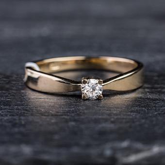 Sužadėtuvių žiedai su Deimantais / Dote Jewellery / Darbų pavyzdys ID 621239