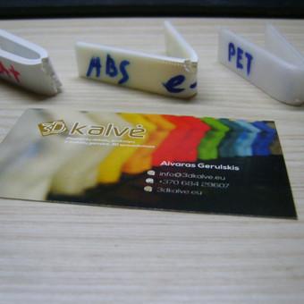 Dažnai manęs klausia, kuom skiriasi ABS, PLA, PETg plastikai, ar laikys? Perlenkiau tris 3 mm storio juosteles. Rezultatą matote.
