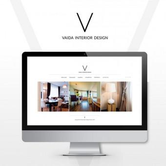 Logotipas ir web dizainas | Interjero dizainerė www.vaidainterior.lt
