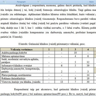 Baigiamojo darbo analitinės dalies fragmentas . Duomenų pateikimas, analizė bei analizės interpretacija(2), Klaipėdos universitetas