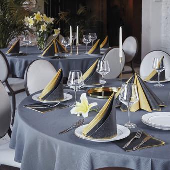 Servetėlės, takeliai, servetėlės įrankiams, kurių dizainą lengvai galima suderinti tarpusavyje. Jos švelnios kaip medžiaga, malonios liesti, gerai laiko formą, reljefinis paviršius artimas ...