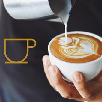 """Kavinės """"Manu Labu"""" logotipo idėja"""