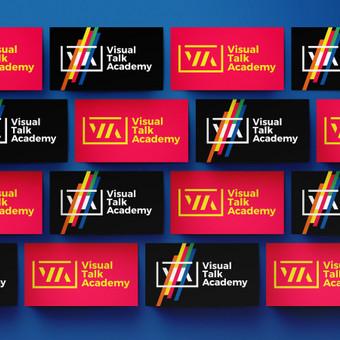 """Prezentacijų kūrimo akademijos """"Visual Talk academy"""" lipdukai"""