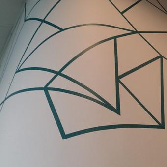 Ledkalnis. detalė. Sienų tapyba. Piešinys ant sienos