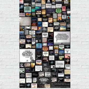 SPAUDOS DIZAINAS - plakatas - inspiruojančių frazių koliažas