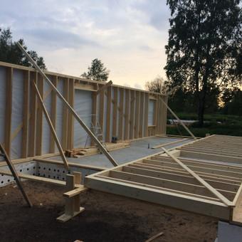 Individualių namų statyba.Karkasinių namų statyba. / Remigijus Valys / Darbų pavyzdys ID 647043