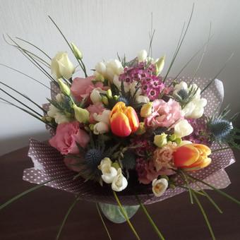 Gėlių pristatymas į namus Klaipėdoje / Floristikos Namai / Darbų pavyzdys ID 648747