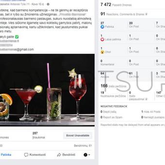 Facebook ir Instagram komunikacija, reklama. / Advertsup / Darbų pavyzdys ID 649439