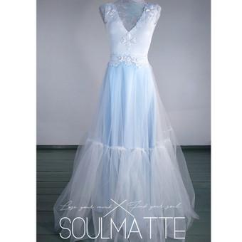 Vestuvinė, proginė suknelė. Bodis ir sijonas.