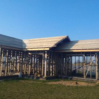 Karkasiniu namu statyba remontas  renovavimas Stogu dengimas / ovidijus / Darbų pavyzdys ID 652059