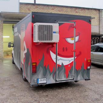 Maisto furgonas, aerozoliniai dažai