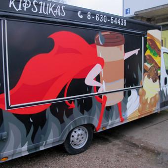 Maisto furgonas, aerozoliniai dažai.