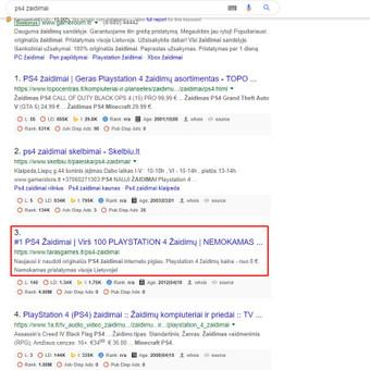#1 SEO Paslaugos Verslui   Tapk Matomu Paieškos Sistemose / Aivaras Jocys / Darbų pavyzdys ID 655155