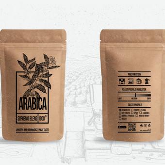Kavos pakuotės sukūrimas