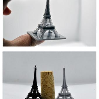 Eifelio bokšto miniatiūra spausdinta su DLP spausdintuvu, aukštis 5.5cm