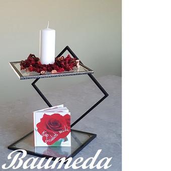 Stovelis tiek namų dekorui,tiek šventiniam stalui:užkandžiams ,vaisiam,saldžiam stalui .Nuomai turimas sendinto sidabro spalvos(gaminant pardavimui spalvą galima pasirinkt-kaina 35eur/1vnt)