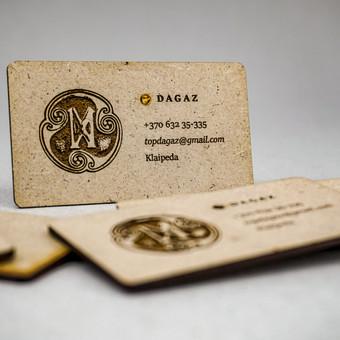 MDF kortelės su įklijuotais gintariukais