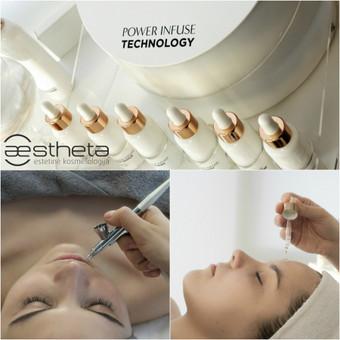 Oxynergy Paris® Power Infuse Technology aparato pagalba yra filtruojamas deguonis paimtas iš aplinkos ir kartu su veikliosiomis medžiagomis yra įvedamas į gilesnius odos sluoksnius.