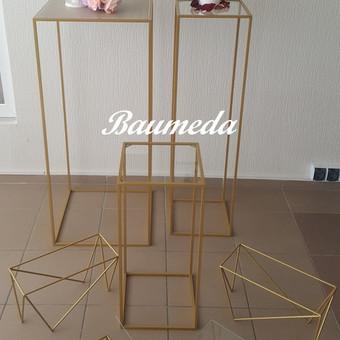 Auksiniai stoveliai 1m ir 80cm pasirinktinai :su veidrodžiu ar stiklu