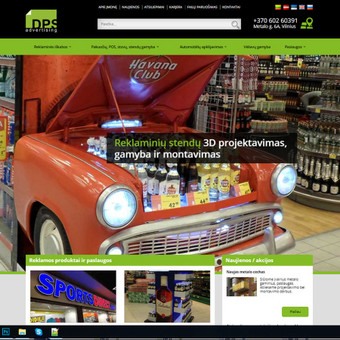 Interneto svetainių ir el.parduotuvių kūrimas, TVS, SEO / UAB TVS projektai / Darbų pavyzdys ID 667819