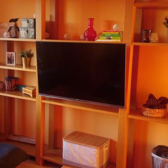 Įvairiausių dydžių televizorių tvirtinimas prie sienų, konstrukcijų...