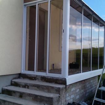 Balkonu, terasu, pavesiniu stiklinimas, plastikiniai langai / Valkoras / Darbų pavyzdys ID 670441