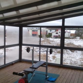 Balkonu, terasu, pavesiniu stiklinimas, plastikiniai langai / Valkoras / Darbų pavyzdys ID 670445