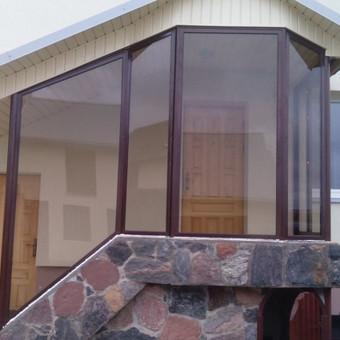 Balkonu, terasu, pavesiniu stiklinimas, plastikiniai langai / Valkoras / Darbų pavyzdys ID 670447