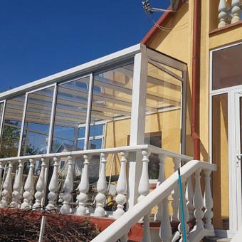Balkonu, terasu, pavesiniu stiklinimas, plastikiniai langai / Valkoras / Darbų pavyzdys ID 670451